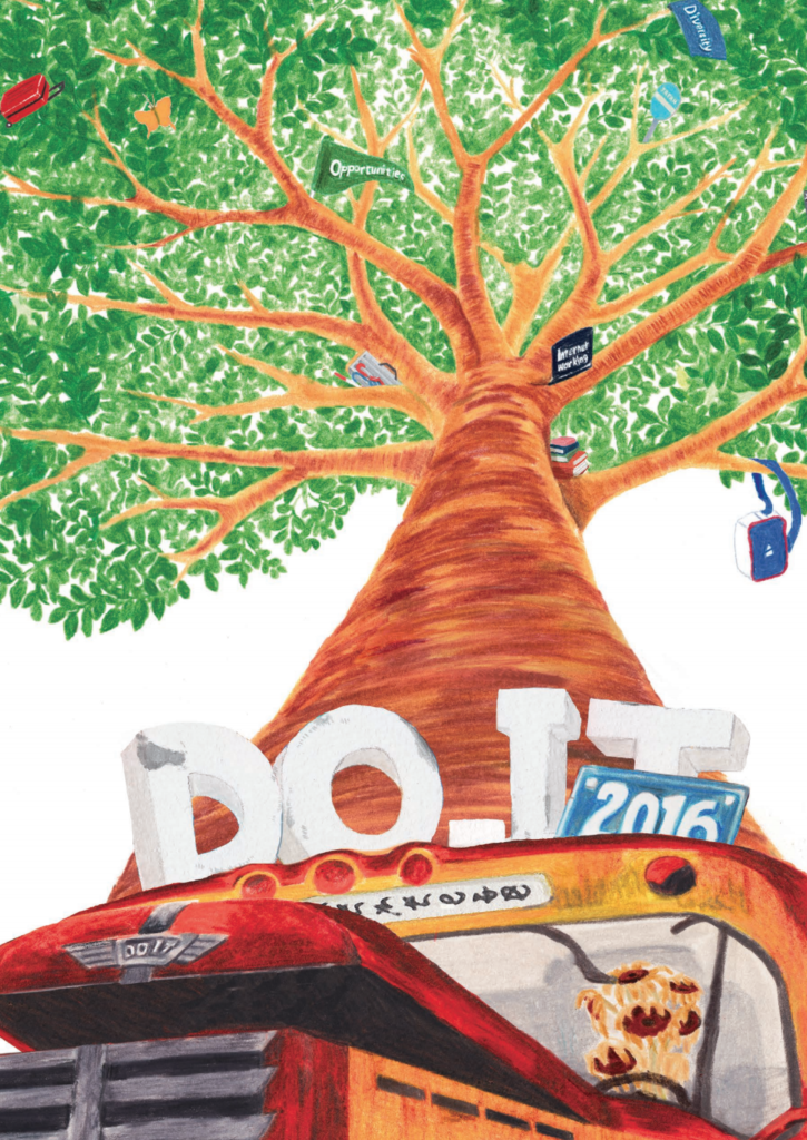 DO-IT Japan 2016パンフレットの表紙。